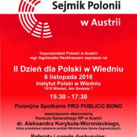 II Dzień dla Polski w Wiedniu (6 Listopad 2016)
